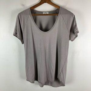 Wilfred M gray shirt sleeve tee t-shirt 0688
